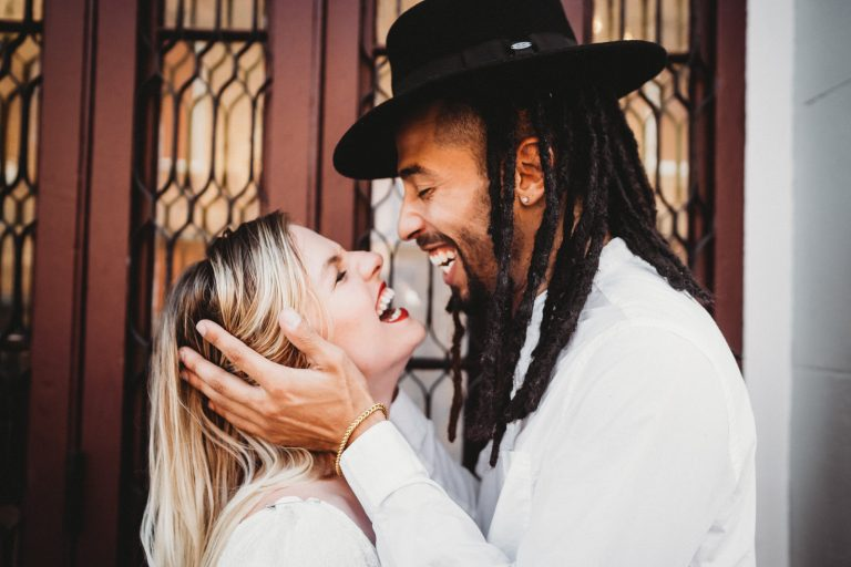 intimate moment between eloping couple by New Orleans Elopement Photographer