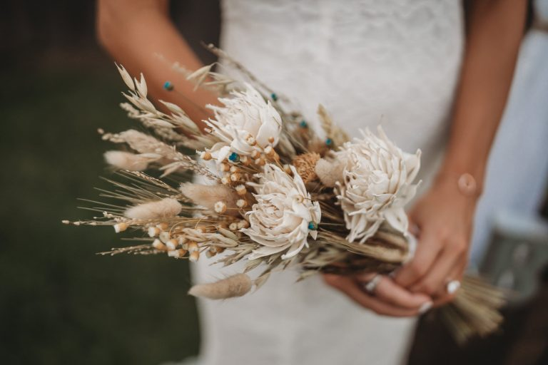 boho rustic bouquet picture by New Orleans Elopement Photographer Tyler Drude