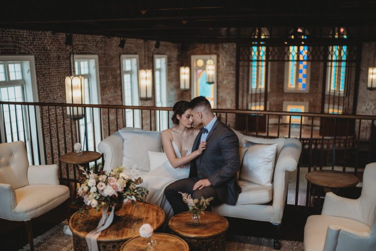 sitting couple at felicity church by New Orleans Elopement Photographer