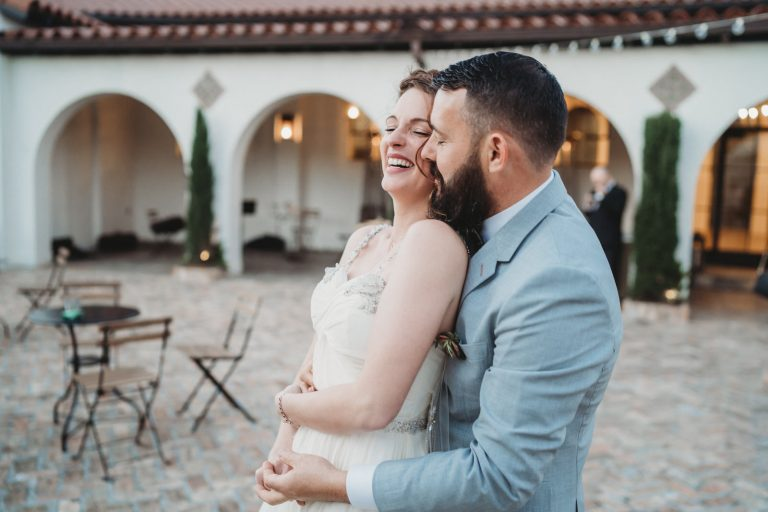 eloping couple dance at il mercato as photographed by New Orleans Elopement Photographer